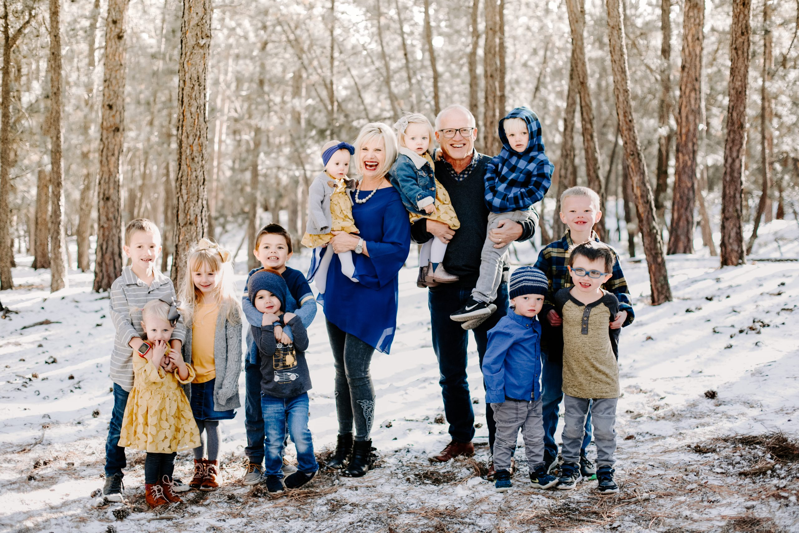 Steve and Becky Harling with Grandchildren