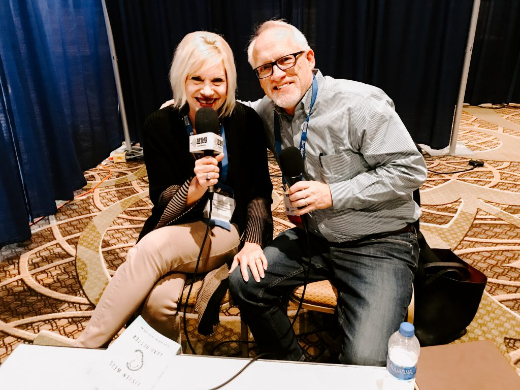 Steve and Becky Harling give a radio interview
